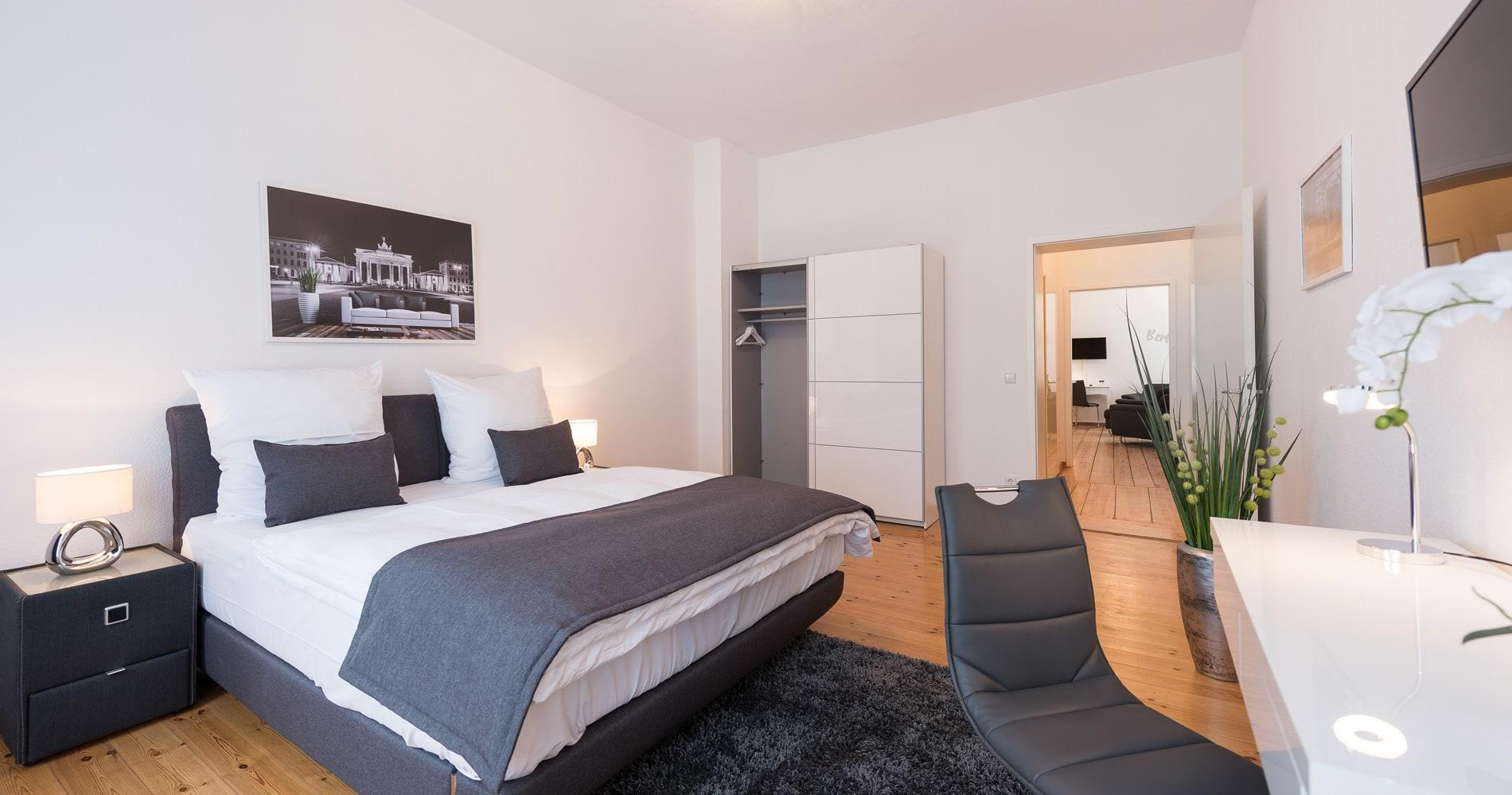 wohnen auf zeit in berlin und k ln serviced apartments. Black Bedroom Furniture Sets. Home Design Ideas